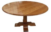 T08 Round Crossover Dining Table