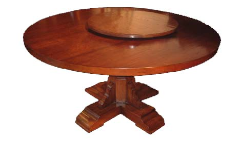 Touchwood Uk T61 Round Tuscan Dining Table With Lazy Susan